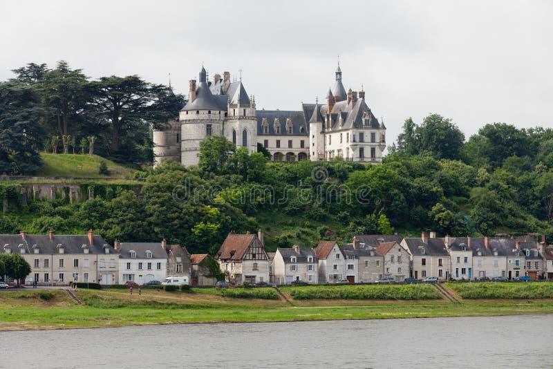 Chaumont-sur-Loirekasteel. stock afbeelding