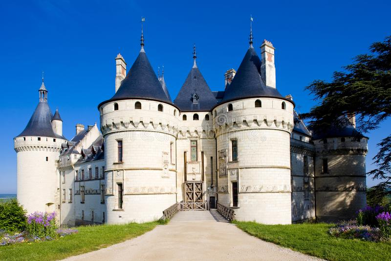 Chaumont-sur-Loirekasteel, Centrum, Frankrijk royalty-vrije stock foto's