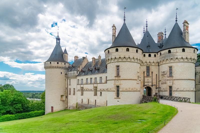 Chaumont-sur-Loirekasteel, Frankrijk stock foto's