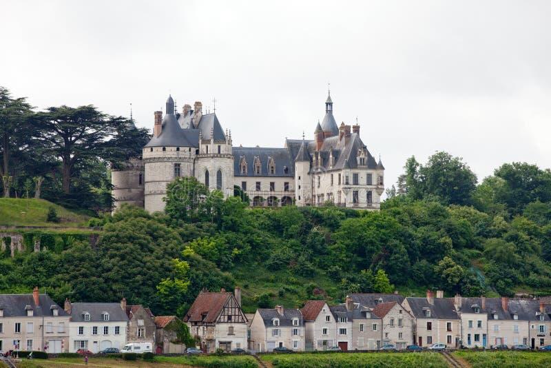 Chaumont-sur-Loireslott. royaltyfri foto