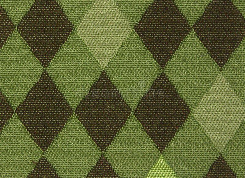 Chaussette avec des losanges verte photo stock