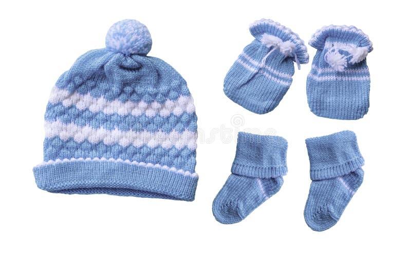 Chaussette de gants de chapeau de bébé images libres de droits