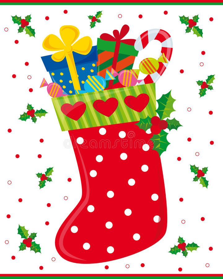 chaussette de Noël illustration libre de droits