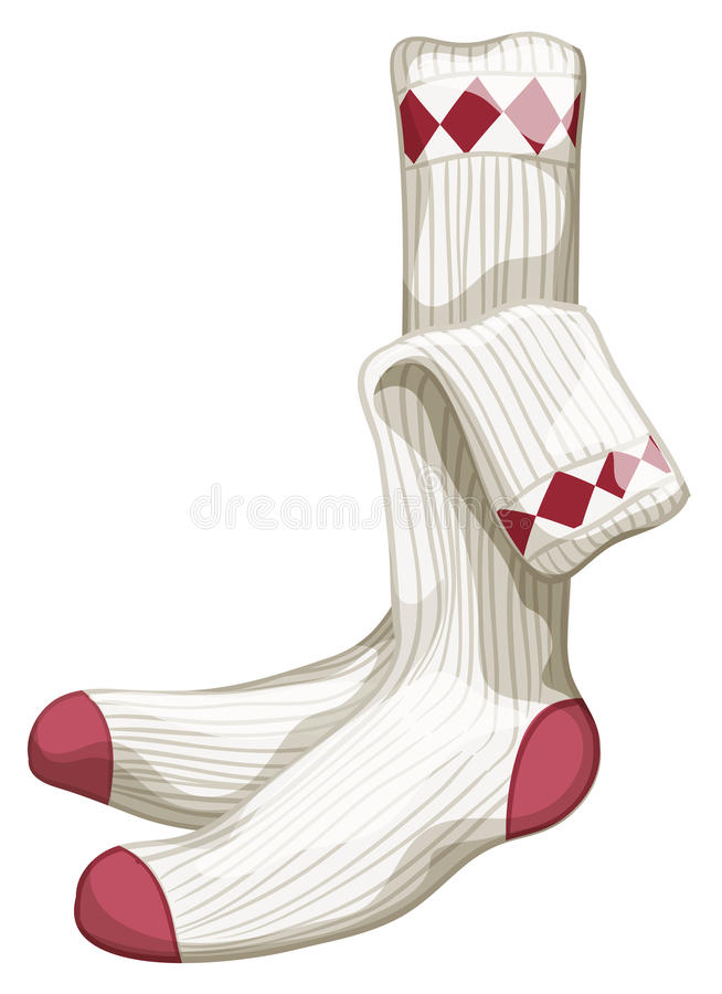 chaussettes illustration stock