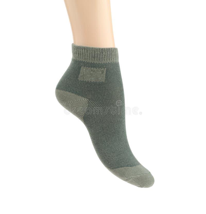 Chaussettes au-dessus de blanc images stock