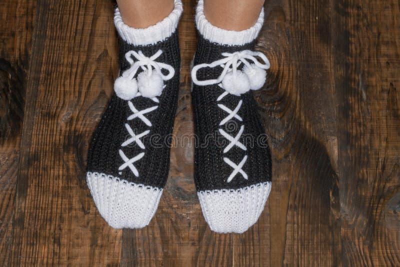 Chaussettes chaudes pour une famille photos stock