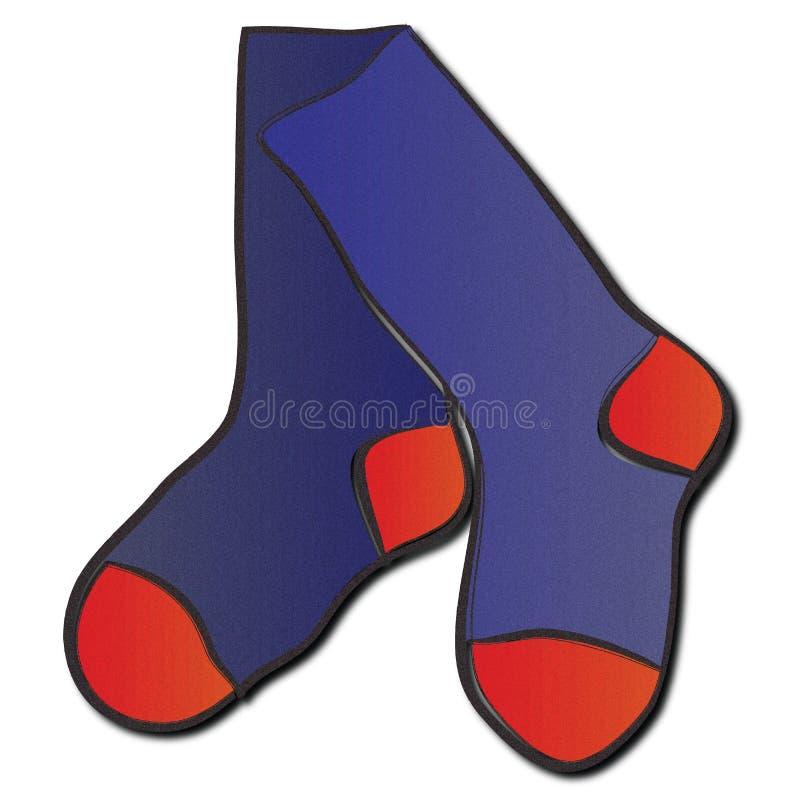Chaussettes, chaussettes, chaussettes ! illustration libre de droits