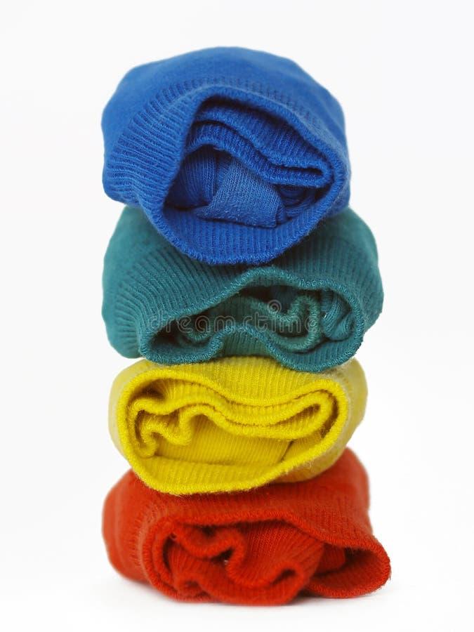 Chaussettes colorées photos libres de droits
