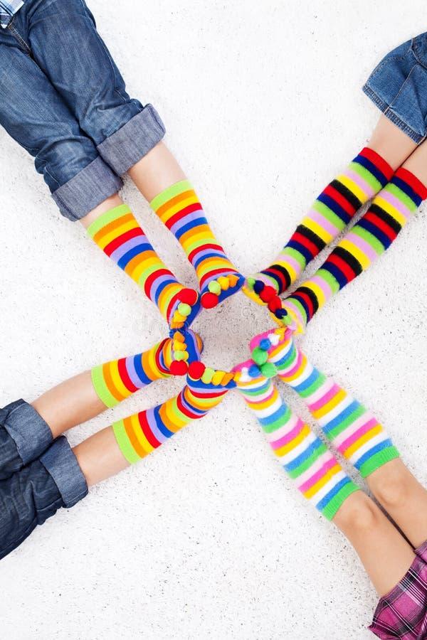 Chaussettes color?es images libres de droits