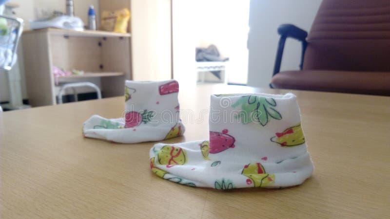 Chaussettes d'enfant photo stock