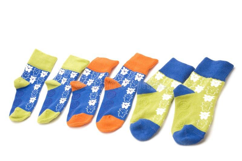 chaussettes d'enfant images libres de droits