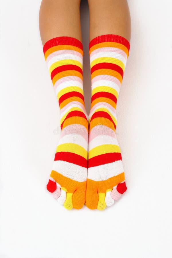 Chaussettes de couleur images stock