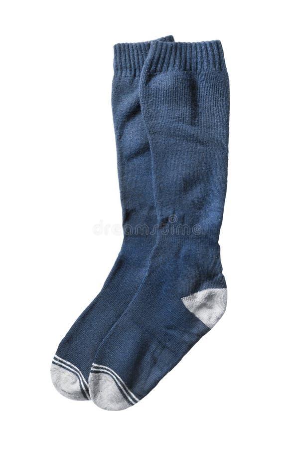 Chaussettes de genou de sport d'isolement photographie stock