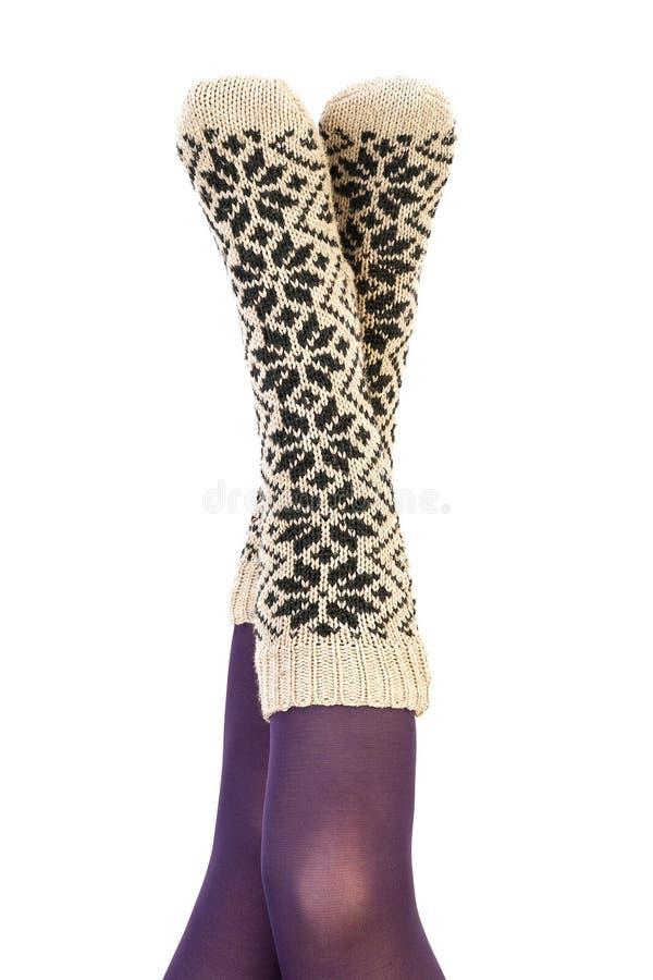 Chaussettes de l'hiver images libres de droits