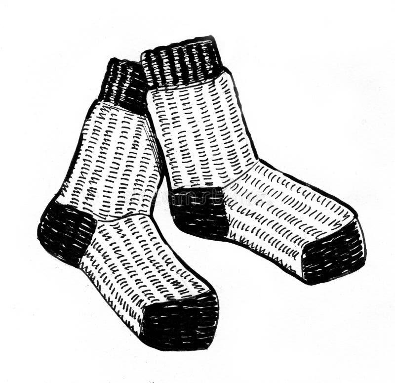 Chaussettes de laine illustration libre de droits