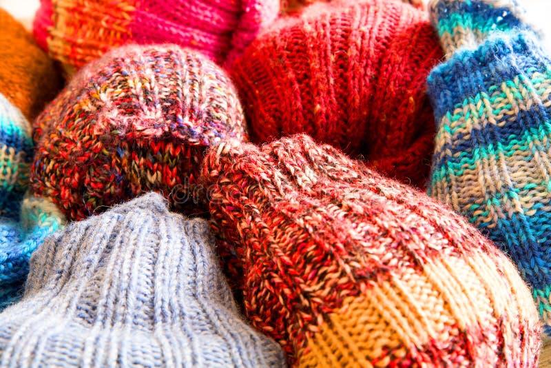 Chaussettes de laine images libres de droits