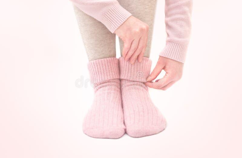 Chaussettes de laine chaudes images libres de droits
