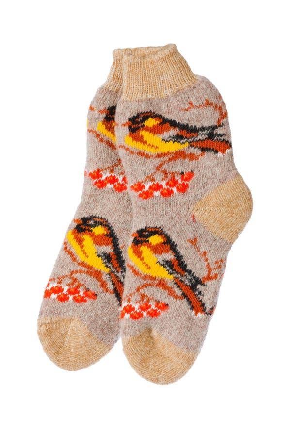 Chaussettes de laine d'hiver photo libre de droits