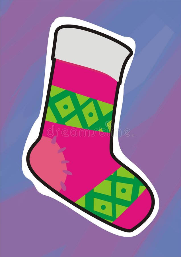 Chaussettes de Noël illustration stock