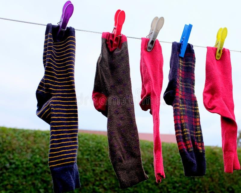 Chaussettes de séchage photo libre de droits