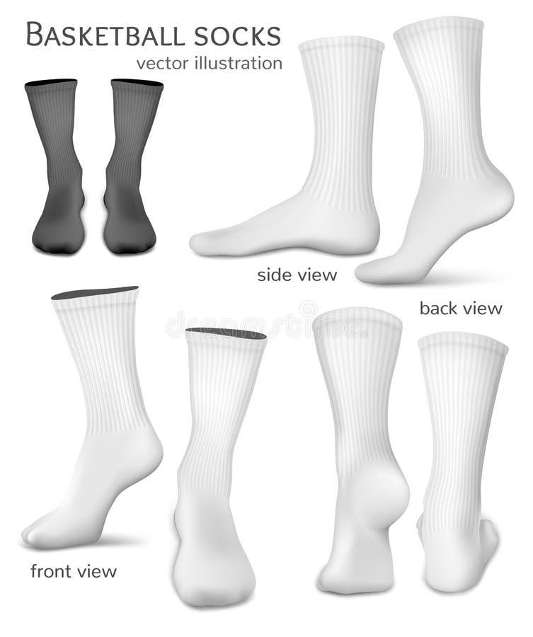 Chaussettes de vecteur de basket-ball illustration stock