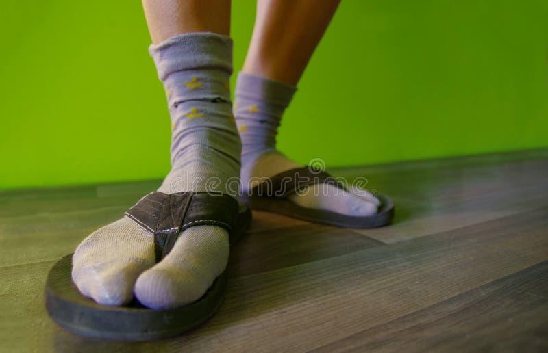 Chaussettes en sandales photos stock