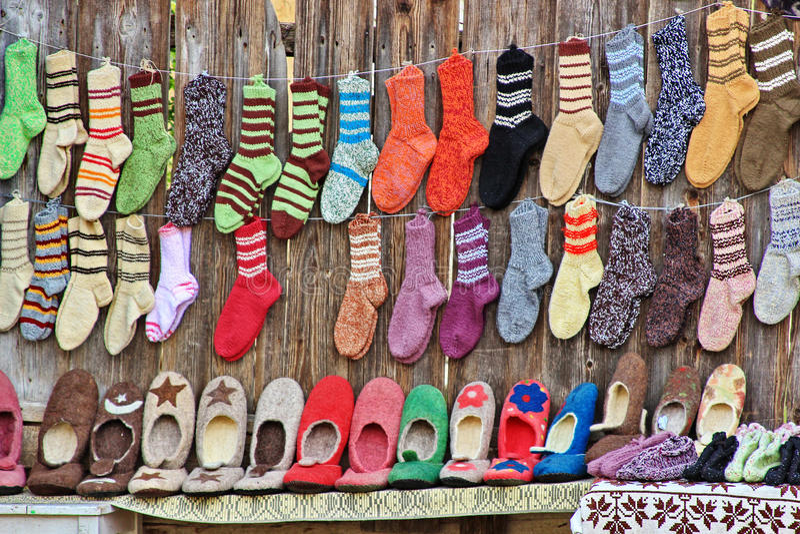 Chaussettes et chaussures traditionnelles photos stock
