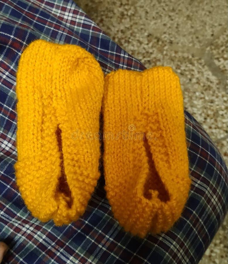 Chaussettes faites main d'Indain images libres de droits