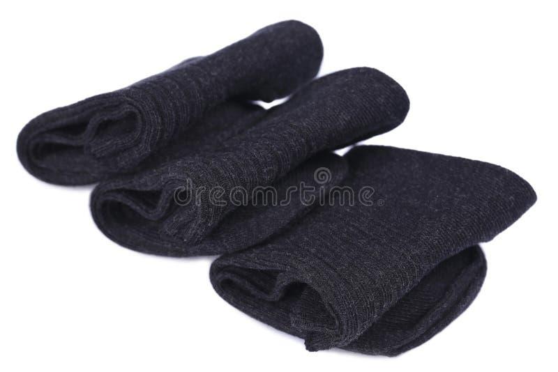 Chaussettes noires photo stock