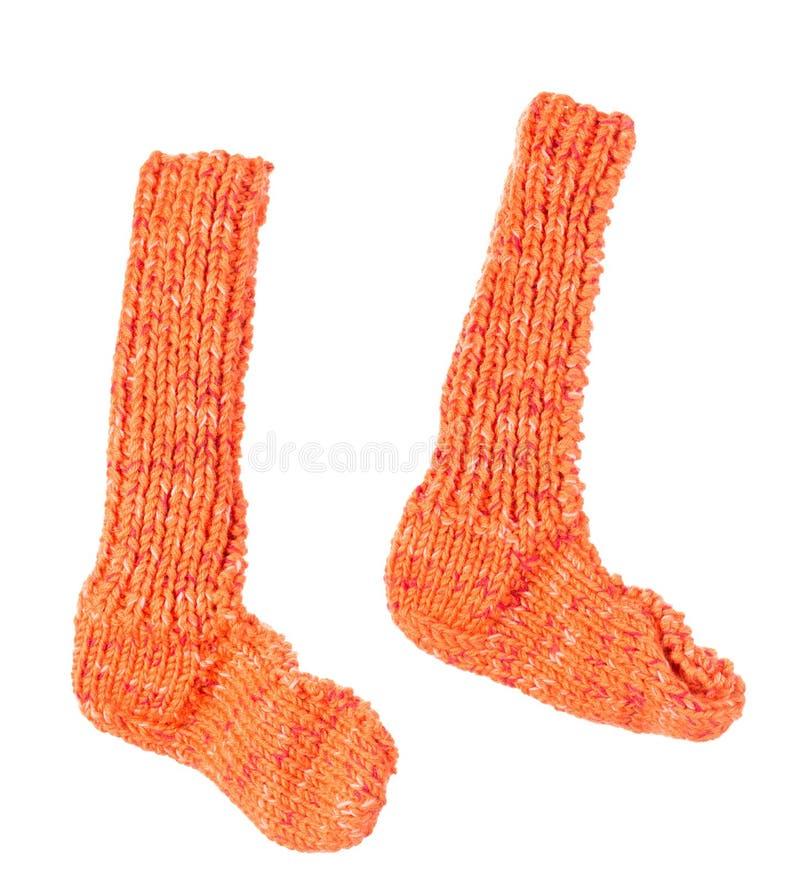 Chaussettes oranges images libres de droits