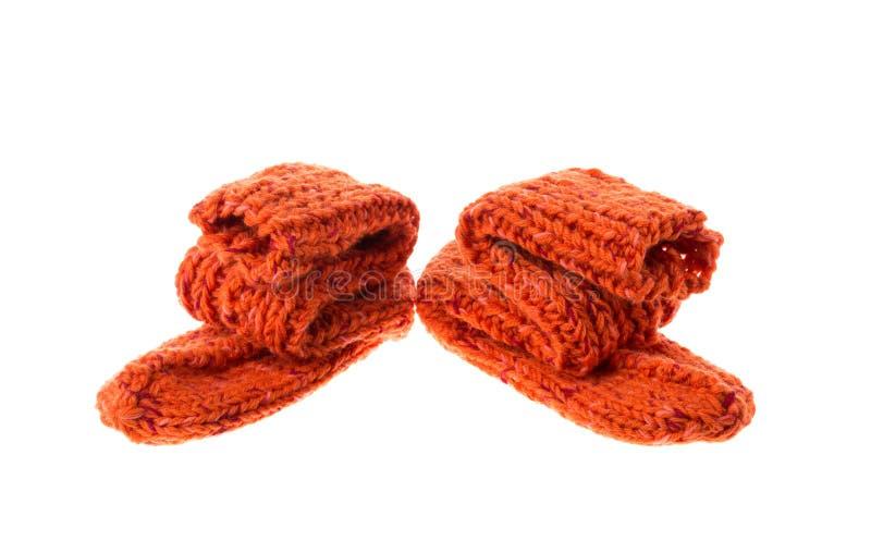 Chaussettes oranges images stock