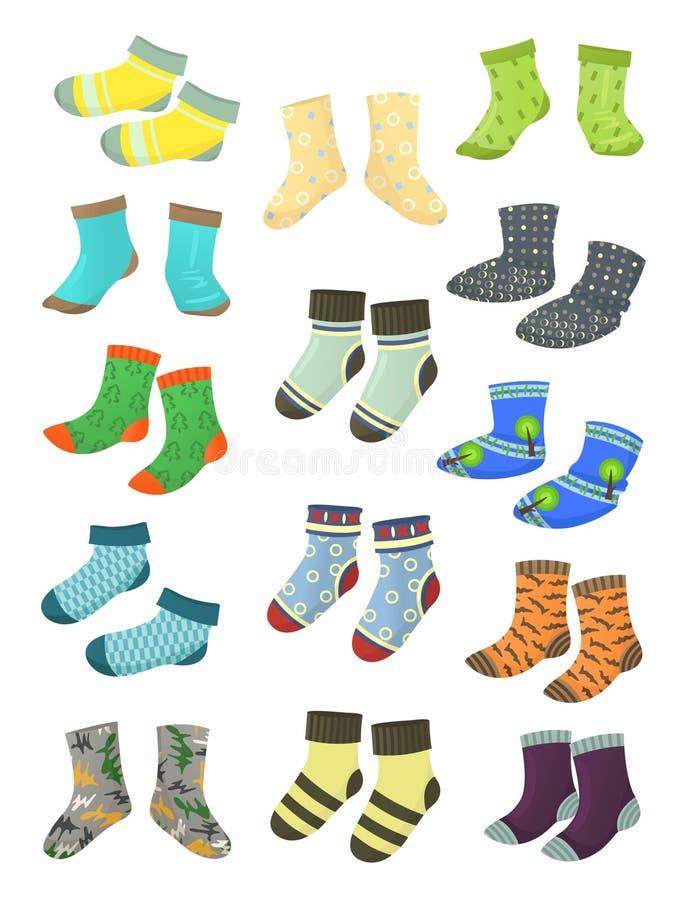 Chaussettes pour de petits garçons illustration stock