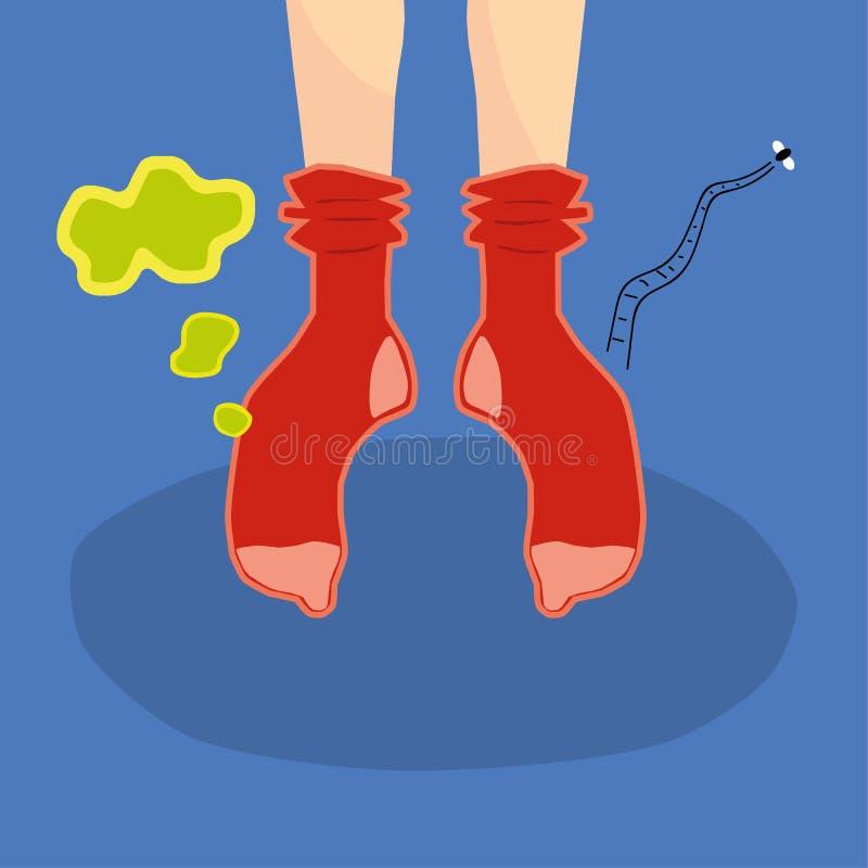 Chaussettes puantes illustration stock