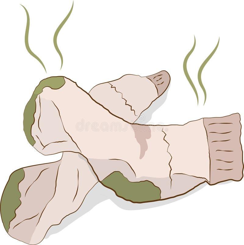 Chaussettes puantes sales illustration de vecteur