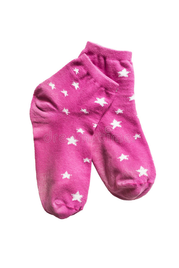 chaussettes roses photographie stock