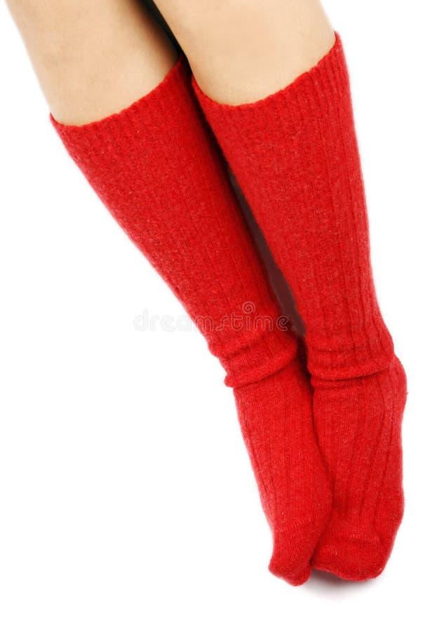 Chaussettes rouges images libres de droits