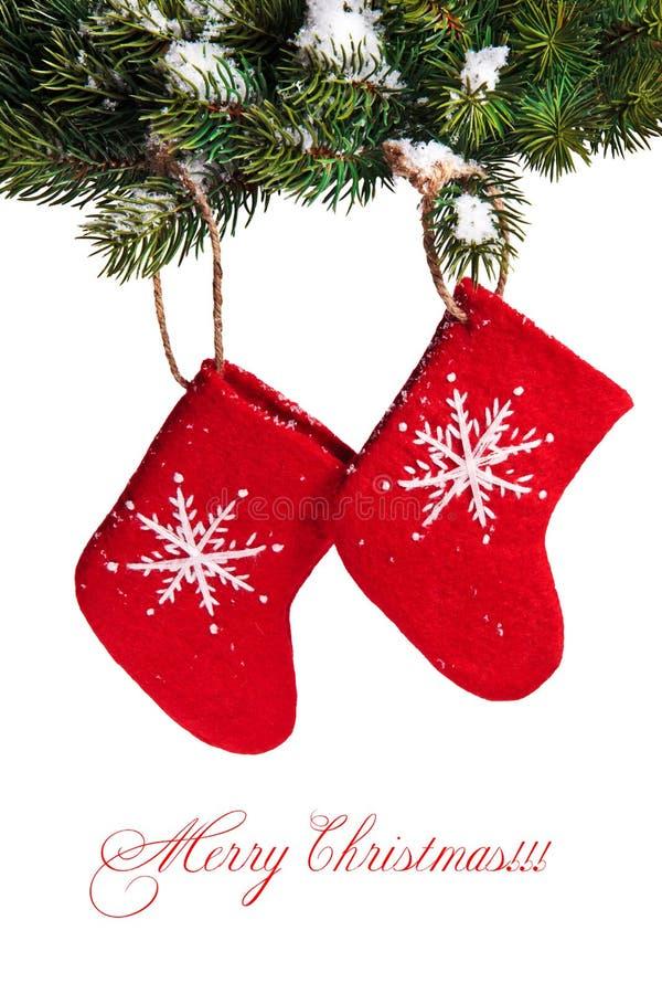 Chaussettes s'arrêtantes rouges images stock