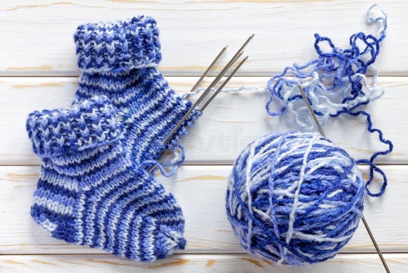 chaussettes tricotées photo libre de droits