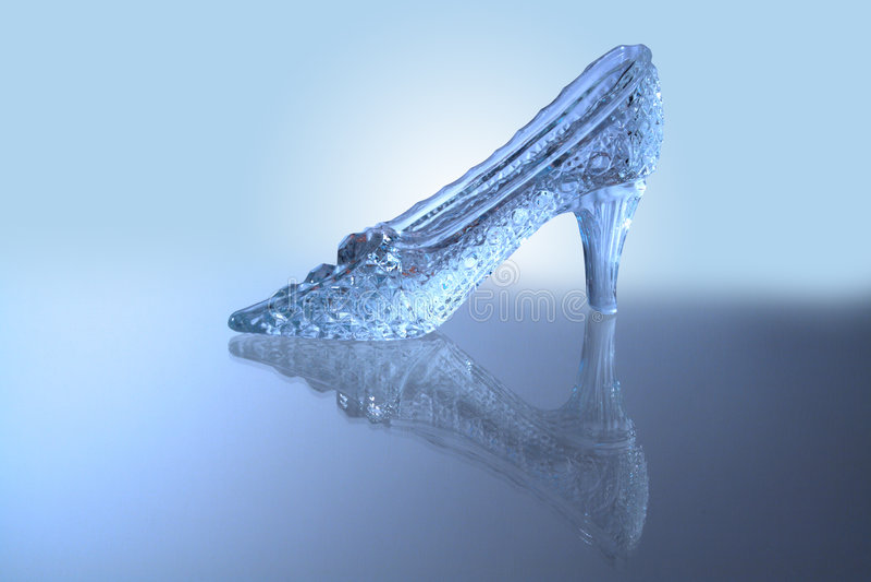chausson en verre image stock