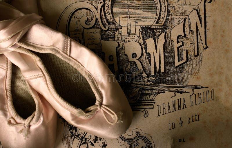 Chaussons de ballet photo stock