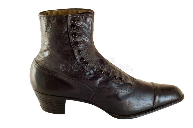 Chaussure antique fabriquée à la main image libre de droits