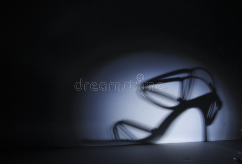 Chaussure argentée photographie stock