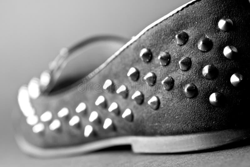 Chaussure avec des goujons photographie stock