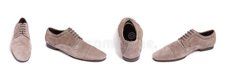 Chaussure d'hommes de suède de Brown image libre de droits