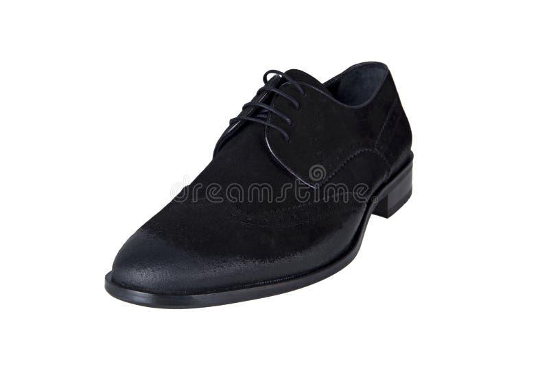 Chaussure d'hommes de suède de Brown photos stock