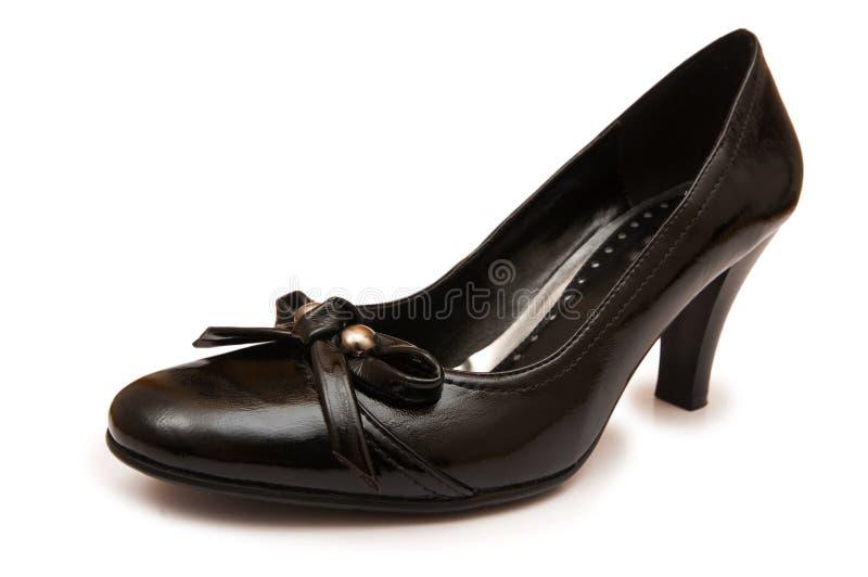 Chaussure de femme d'isolement image libre de droits