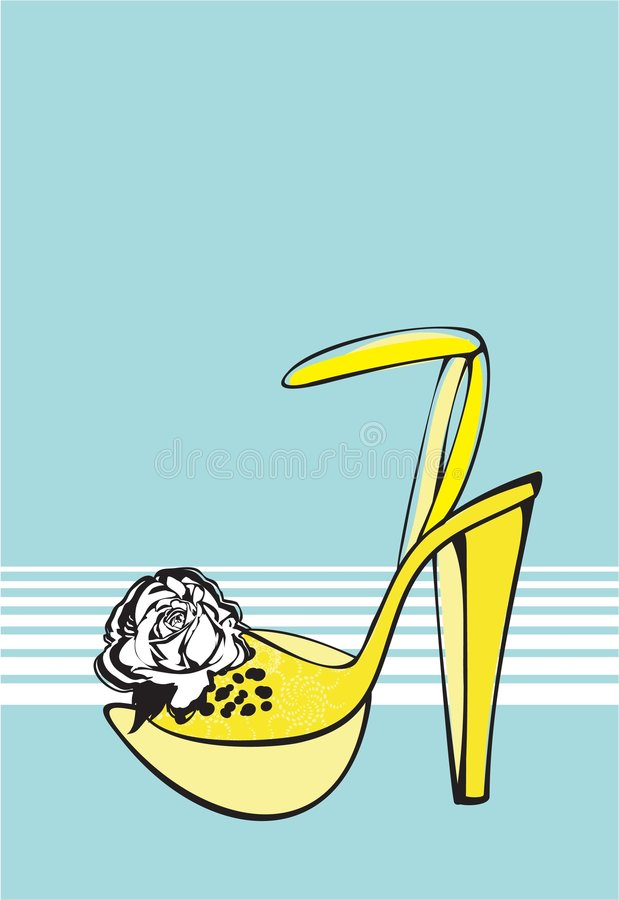 Chaussure de mode illustration stock