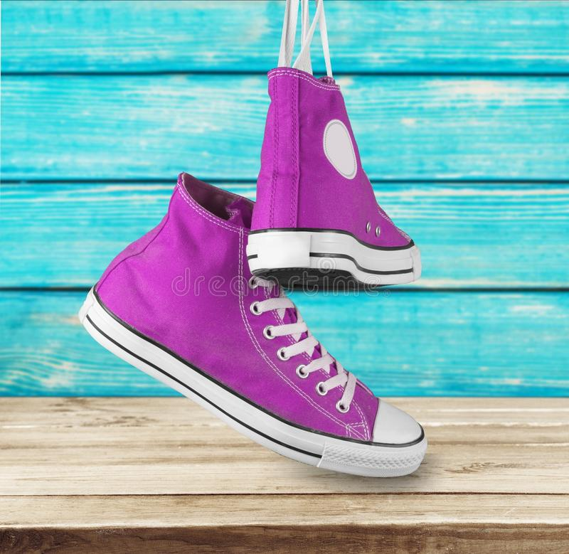 Chaussure de toile photo stock