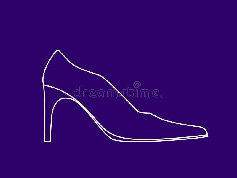 Chaussure de Womans illustration de vecteur