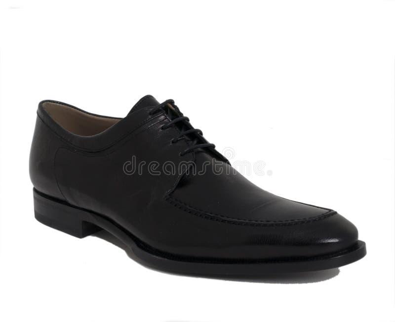 Chaussure en cuir de noir de créateur de Mens photos stock